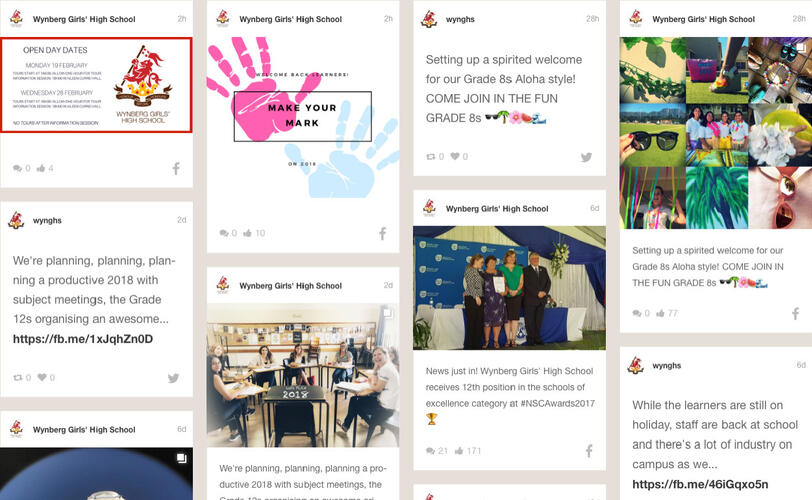 View our Social Wall
