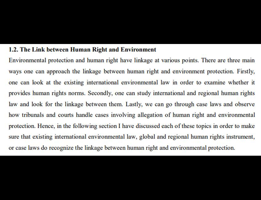 Ruby Sampson - Environmental Rights are Human Rights