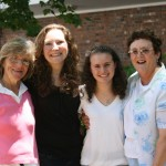 Christine and Elaine with their mothers