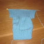 jersey knitted to before middle