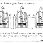 Secrecy Bill - what do these gates have in common?
