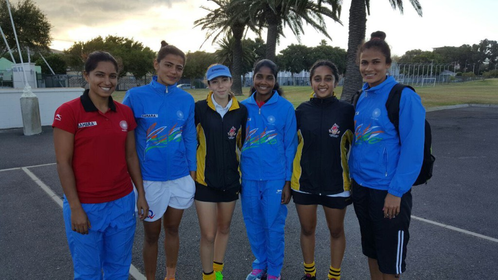 Posing with Indian Hockey Team